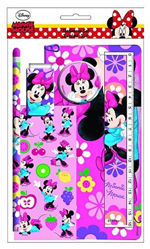 Set de papeterie 6 pièces avec trousse de Minnie Mouse