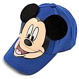 Disney Little Boys Mickey Mouse Cotton Baseball Cap, Blue, Age 4-7