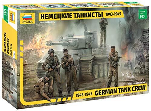 Zvezda 500783614 - 1:35 WWII Figuren-Set Deutsche Panzer-Besatzung (5)