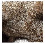 Brown Black Fluffy Long Pile Kunstpelz Stoff Für Basteln DIY 170x20cm, Weicher Luxus Fuzzy Stoff Für DIY Bastelbedarf Hobby Kostüm Dekoration Couch Schlafsofa