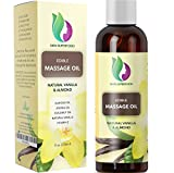 Erotic Massage Oil with Vanilla Bean Extract - Massage Therapy Oils for Sensual Massage with Pure Jojoba Sweet...