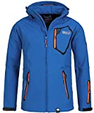 Geographical Norway Chaqueta Tsunami para hombre con capucha desmontable azul y naranja M
