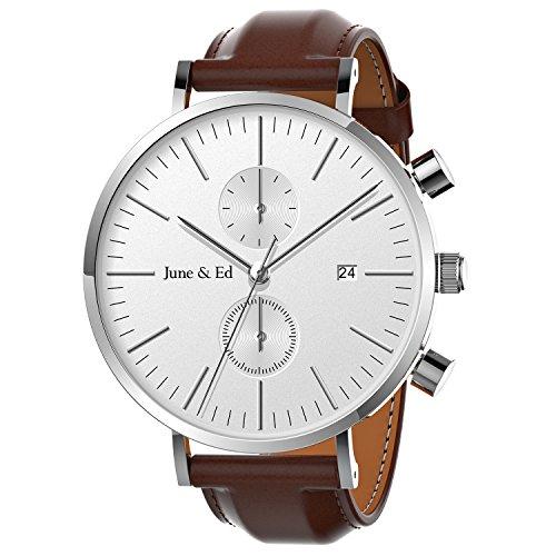 June & Ed Cuarzo Reloj de Hombre, con...