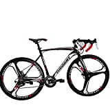 Eurobike Road Bike 700C Wheels 21 Speed Disc Brake Bicycle 54cm/Medium Frame Size (3 Spoke Wheels)