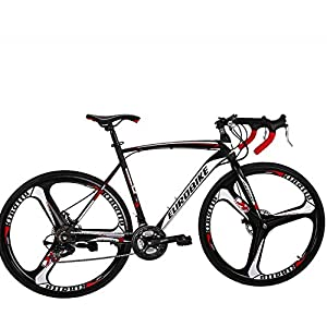 Road Bikes Eurobike Road Bike 700C wheels 21 Speed Disc Brake Mens Bicycle 54cm Frame