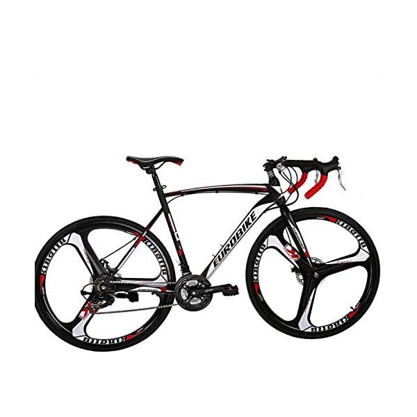Road Bikes Eurobike Road Bike 700C wheels 21 Speed Disc Brake Mens Bicycle 54cm Frame [tag]