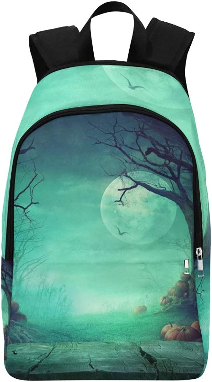 Halloween Spooky Forest Dead Trees Casual Daypack Travel Bag College School Backpack for Mens and Women