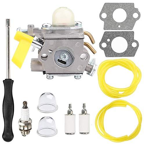 SNOWINSPRING 308054043 Carburador + Kit de Ajuste de La Herramienta de VaporizacióN para Homelite Ryobi RY09800 RY28021 RY28041 RY28065