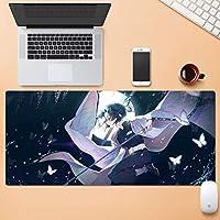 ゲームマウスマット、悪魔のスレイヤーかすの八恵県京丸、アニメの表面摩耗保護の下で耐久性のある大規模なオフィスのマウスパッドをパーソナライズする (Color : 900mm*400mm, Size : 5mm)