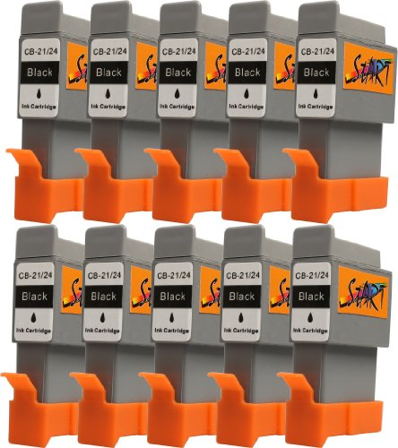 Start 10 Replacement Ink Cartridges Compatible with BCI - 21 BCI - 24 Black for Canon Pixma iP1000 / iP1500 / iP2000 / MP110 / MP390 MP130, I250, I255, I320, I350, I355, I450, I455, I470D, I475D, Smartbase, MP375R MP360 / MP370 / MP390 / MPC190 / MPC200 / Pixus 320i 455i, 475Pd-Mp10 / MP360 / MP370 / MP390 MP375R, MP5 imageClass MPC190 / MPC200, S200, S210, S300, S330, S330, Multipass Photo F20 / MP360 / MP370