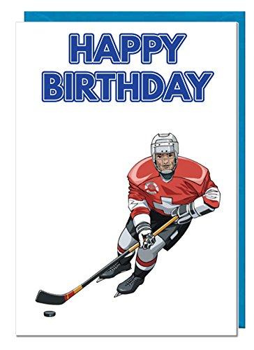 Geburtstagskarte – Eishockey – Papa – Ehemann – Bruder – Sohn – Großvater – Freund