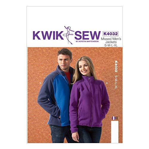 KWIK-SEW PATTERNS K4032 Misses'/Men's Jackets Sewing Template, All Sizes by KWIK-SEW PATTERNS