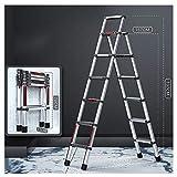 Escalera Plegable Aluminio Plegable escalera telescópica extensible Escaleras, plegable Loft escalera Pasos heces, Hogares de Propósitos Múltiples Jardín obras, portátil ligero de aleación de aluminio