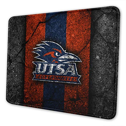 UTSA Roadrunners Orange Blue-1 Gaming Square Mouse Pad (7 Inches X 8.6 Inches) Non-Slip Rubber Smooth Surface Mouse Pad, Suitable for Office and Entertainment