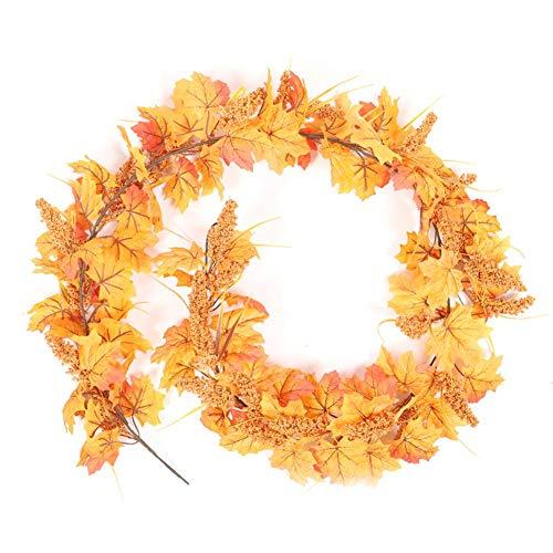 osmanthus Künstliche Blume Girlanden Herbst Ahornblätter, 180cm Garten Vintage Wohnzimmer Wohnzimmer Ahorn Für Home Thanksgiving Kamin Dekoration