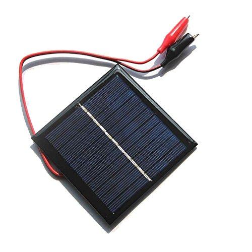 LawUza 1W 5,5V Solar Zelle Epoxy Polykristalline Solar Panel Clip für Ladekabel