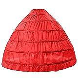 BEAUTELICATE Sottogonna Petticoat Donna Gonna Lunga 6 Cerchio Crinolina Rockabilly Vintage Sottoveste per Vestito Abito da Sposa Anni 50 Bianca Nera
