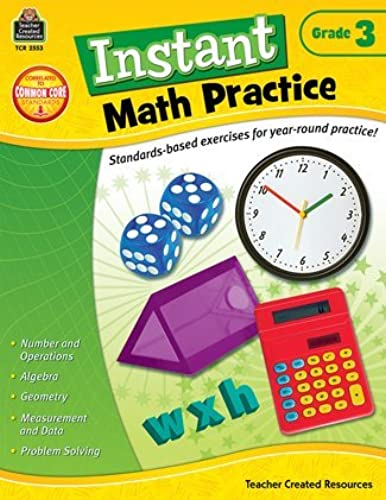 Instant Math Practice (Gr. 3) by Teacher Created Resources