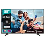 Hisense 58AE7000F 147cm (58 Zoll) Fernseher (4K Ultra HD, HDR, Triple Tuner DVB-C/S/S2/T/T2, Smart-TV, Frameless, Bluetooth, Alexa, 3 Jahre Garantie)