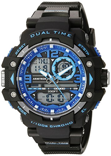 Armitron Sport Relógio Masculino Analógico-Digital Cronógrafo 20/5062, Preto/azul
