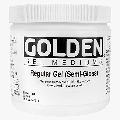 Goldene 0003040-6 16 Unzen - 473ml - Semi-Gloss Regular Gel - Medium