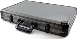 Versa Games 1000pc Deluxe Poker Chip Case in Gray Color - Reinforced, Strong, Sturdy Design