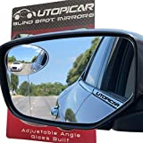 New Blind Spot Mirrors Can be Installed Adjustable or Fixed. Car Mirror for Blind Side / Door Mirrors by Utopicar Car Accessories | Wide Angle Rear View Mirrors [Frameless Design] (2 pack)