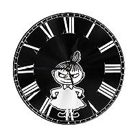 Clock ムーミン Moomin 時計 掛け時計 壁掛け時計 置き時計 置掛両用 連続秒針 静音 サイレント 円形 丸い アラビア数字 リッピング シンプル モダン 高級 おしゃれ 人気 ホーム 寝室 自宅 室内 屋内用 防塵型 ウォールクロック インテリア 部屋装飾 プレゼント 贈り物