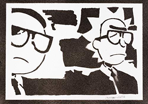 Rick und Morty Poster Plakat Handmade Graffiti Street Art - Artwork