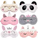 Kids Sleep Mask, Aniwon 6 Pack Animal Sleeping Mask Cute Sleep Mask for Kids Unicorn Sleeping Mask Sleeping Mask for Kids Girls Sleep Mask