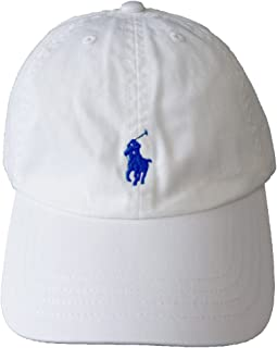 (ポロ ラルフローレン)POLO Ralph Lauren キャップ キッズ(子供用) CAP ハット PONY ポニー マーク ワンポイント ホワイト×ネイビー 4-7 [並行輸入品]