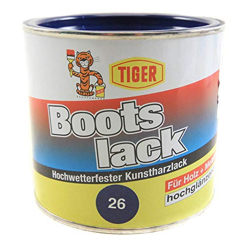 Kunstharzlack Tiger Bootslack dunkelblau 26 hochglänzend 0,5kg