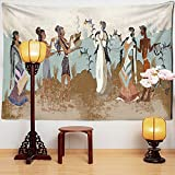Figuren Tapisserie Wandbehang Retro Chinesische Malerei Mysteriöse Meditation Psychedelische Kunst Bohemian Hippie Home Decor A1 150x130cm