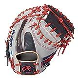 ローリングス(Rawlings) 野球用 軟式 HOH® MLB COLORSYNC [キャッチャー用] ミットサイズ33.0 GR1HM2AC グレー/ネイビー サイズ 33 ※右投用