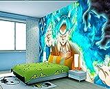 Dragon Ball Super anime Goku para niños Wallpaper Mural 3d Papel tapiz Mural Wallpaper Salón Dormitorio y fondo de televisión Papel Pintado Fotomurales living decoration 200cmx140cm