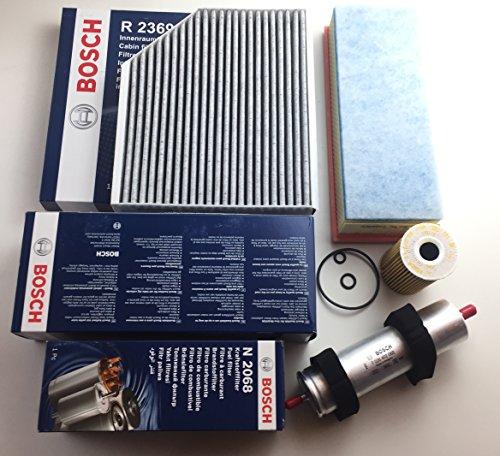Bosch Ölfilter Luftfilter Aktivkohlefilter Kraftstofffilter A4 B8 A5 8T Q5 8R 2.0 TDI - Motorcode CJCB , CJCA , CMFA , CJCC , CGLD , CNHC