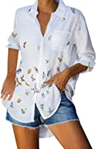 Womens Long Sleeve Tunic Shirts with Pockets Cross Daisy Butterfl Graphic Inspirational Tops Blouse