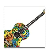 aoyuff Colorful Guitar Oil Painting Coloring Paint by Numbers Color Blocks Draw with Kits On Canvas for Kids Gifts Room Wall Decor
