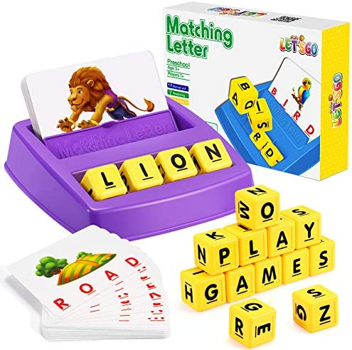 LET S GO Educational Games for Kids Ages 3 8 Matching Letter Game for Kids Toys for 3 8 Year product image