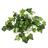 ECMQS - Viga artificial de reptil lagartos, decoración de terrario, camalelas, montado en reposo, hojas de plantas