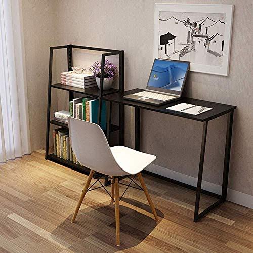 AJH Estudios del dormitorio, sala de estar, ordenador de escritorio, escritorio de oficina, mesa de ordenador plegable, estilo industrial, oficina en casa, oficina