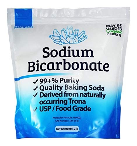 Duda Energy sbc5f USP Pure Sodium Bicarbonate Powder Highest Quality Organic Food Grade ORMI Listed Pure Baking Soda, 5 lb.