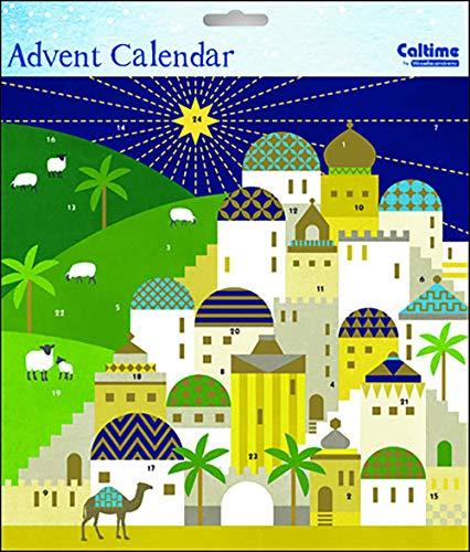 Caltime Bethlehem Religiöse - Adventskalender 235 x 235 mm mit Umschlag
