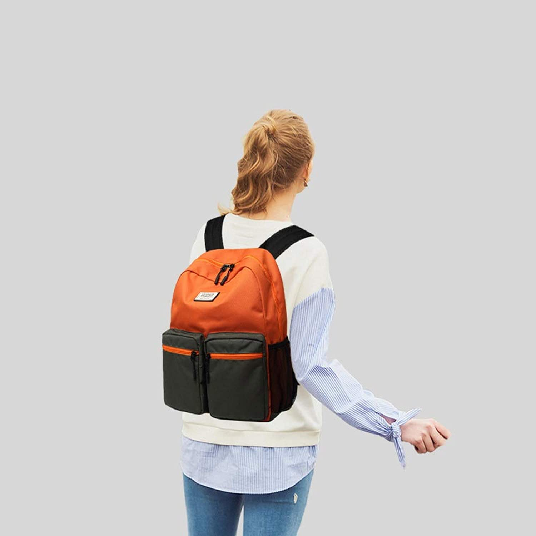 WFHhsxfh Casual Sport Kontrastfarbe Rucksack Mnner und Frauen im Freien Mittelschüler Tasche Rucksack weiblich Rucksack (Farbe   Orange)
