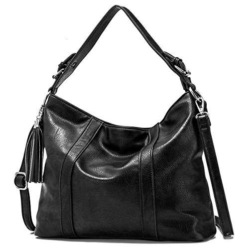 JOSEKO Borsa da donna, grande borsa a tracolla in PU Borsa a mano Hobo, tracolla staccabile, facile da trasportare, alla moda e versatile, piena di femminilità