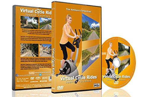 Virtuelle Fahrradstrecken – Spanische Pyrenäen – Für Indoor Radfahren, Laufband und Laufworkouts