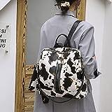 WANZPITS Mochila con Estampado de Vaca para Mujeres, niñas, Hombro, Mochila, Mochilas para la Escuela, Moda, Bolso de Viaje para computadora portátil para Damas,02,32x14x32cm