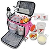 Fitmark Box Meal Prep Insulated Bag with BPA Free Portion Control Meal Containers, Reusable Ice...