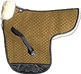 Engel Reitsport Lammfell Satteldecke Stoff camel Fell mocca (Sadek 1) farbenfroh: mit 12 Lammfell Farben kombinierbar! Dressur (D)