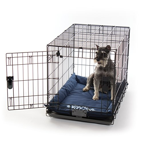 K&H Pet Products K-9 Ruff n' Tuff Crate Pad Medium Navy Blue (21' x 31') - 1260 Denier Rip-Stop Polyester for Pets That Need Extra Tough Fabric